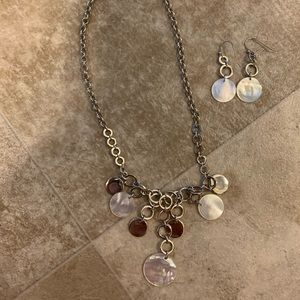 lia sophia necklace and earrings set